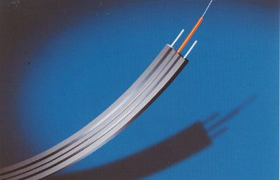 Simplex flat under-carpet optical fiber cable GJFJBV and GJFJBZY